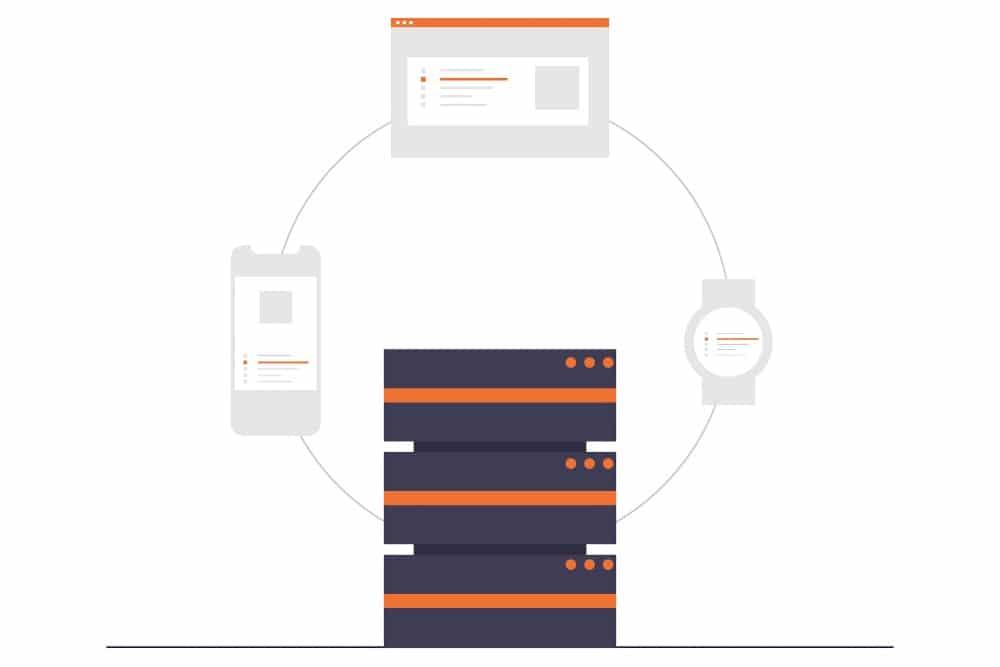 Managed hosting server cluster illustration