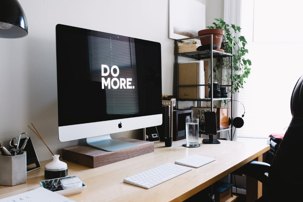 DO MORE - aspirational desk set up - wish my desk was this tidy