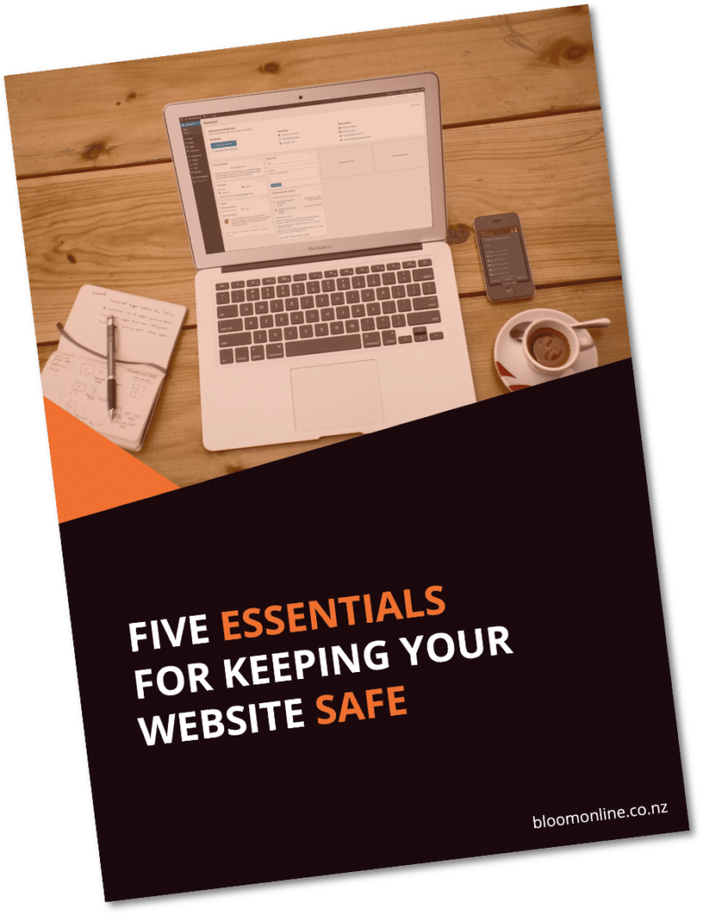 5 Essentials for keeping your website save - ebook cover image
